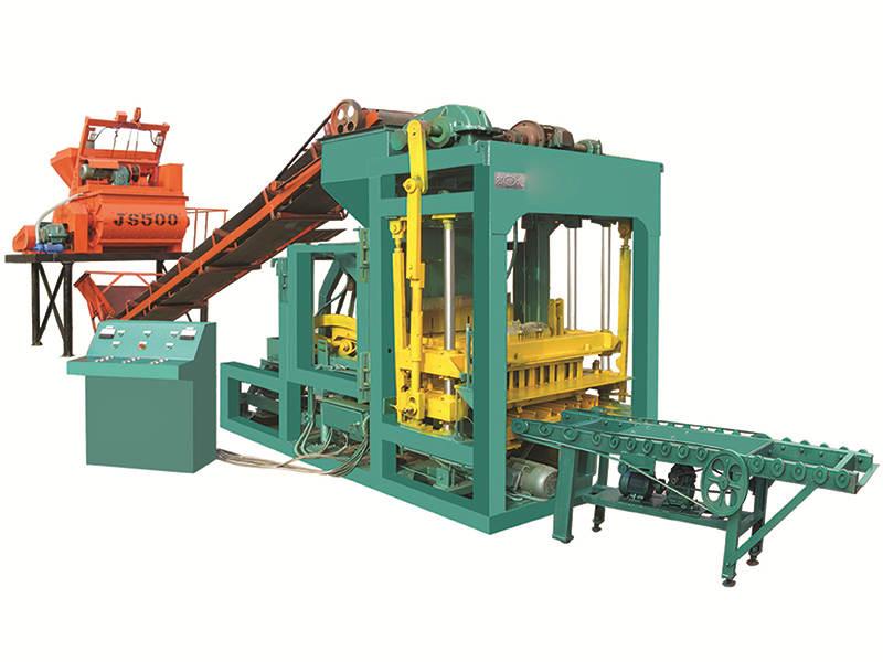 QTJ4-25 fly ash brick manufacturing machine